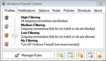 Firewall para Windows