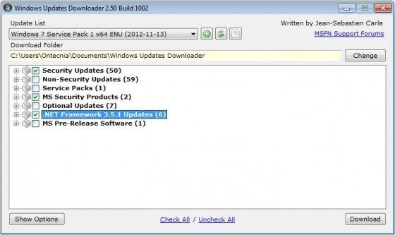 Descargar actualizaciones para Windows