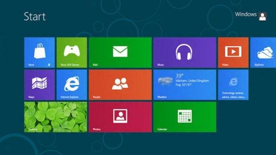 Interfaz Metro de Windows 8