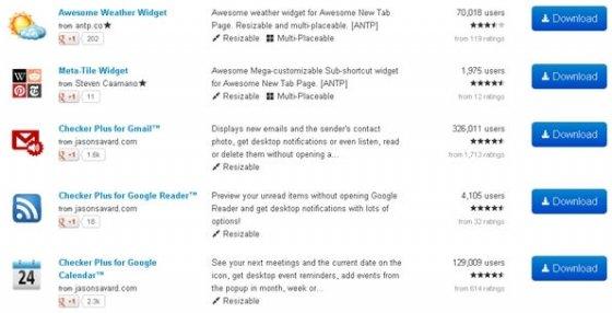 Nuevos widgets que puedes descargar e instalar