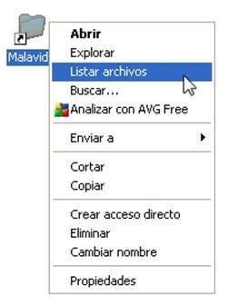 Nueva opción en el menú contextual de Windows