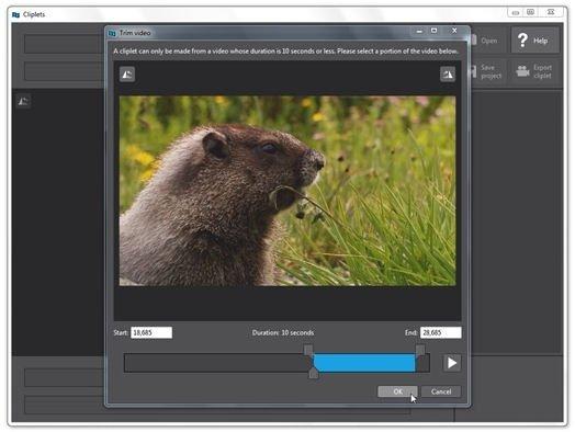 Importar un vídeo a Cliplets