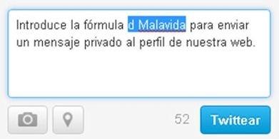 Mensaje directo y privado a otro usuario de Twitter