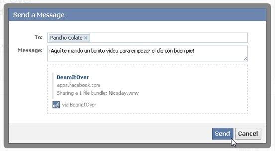 Enviar archivos a través de BeamItOver
