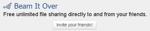 Invita a tus amigos a utilizar BeamItOver