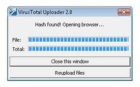 Ventana de subida de archivos