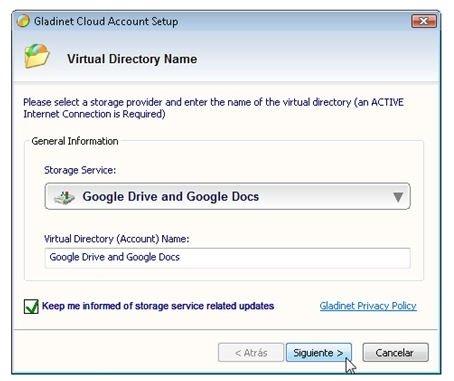 Añadir Google Drive y Google Docs