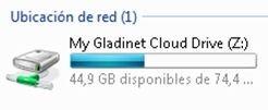 Disco duro virtual de Gladinet