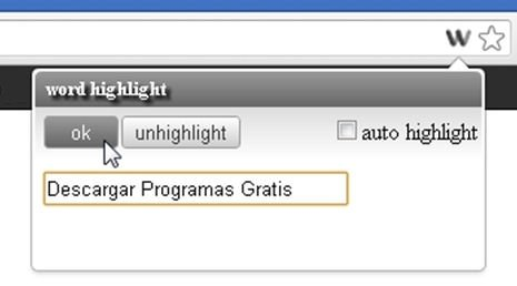 Palabras a buscar con word highlight