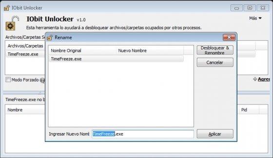 Cambio de nombre de fichero en IObit Unlocker