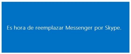 Contenido del correo enviado por Microsoft sobre el cambio de Messenger por Skype