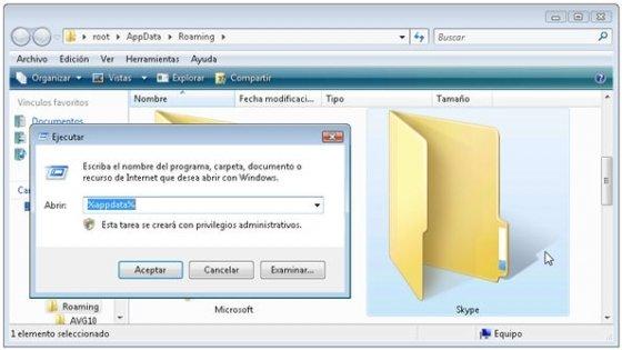 Reinicia la configuración de Skype
