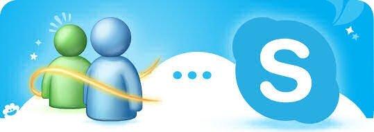Imagen de Microsoft para promover el cambio entre Messenger y Skype