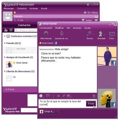 Conversación de chat en Yahoo! Messenger