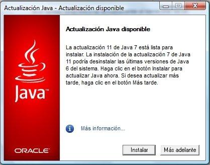 Actualizar versión de Java