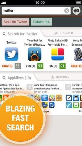 Captura de pantalla de Appsfire para iPhone