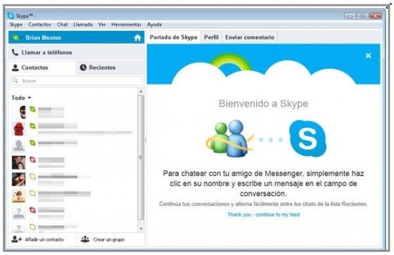 Modificar el tamaño de la ventana de Skype