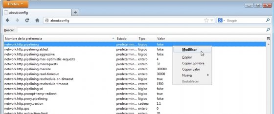 Pipeling en Firefox