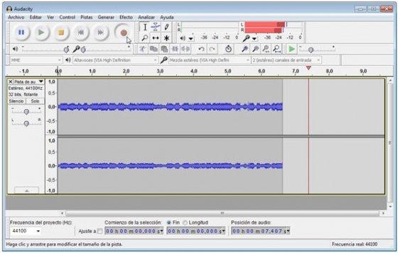Grabando audio de Windows 7 con Audacity