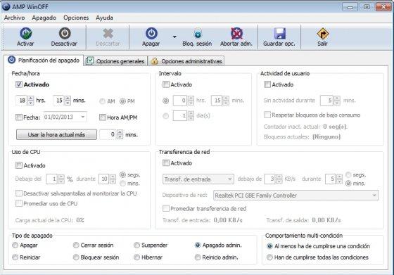 Automatizar apagado de Windows