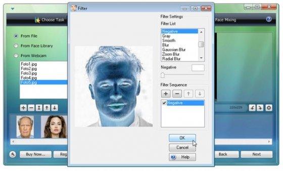 Opción para aplicar filtros a las imágenes importadas