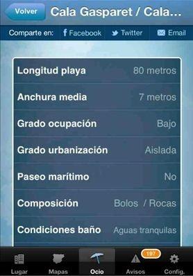 Condiciones meteorológicas en las playas