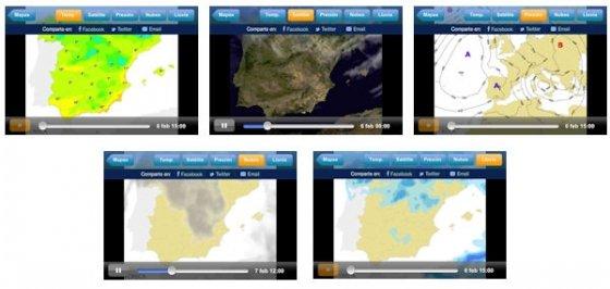 Todos los mapas meteorologicos