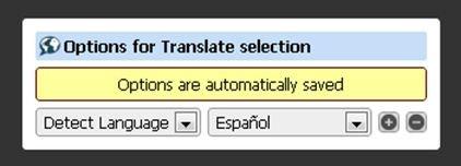 Primera regla de traducción de Translate selection