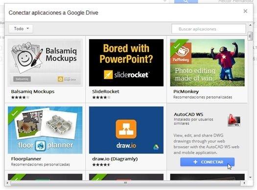 Nuevas aplicaciones para Google Drive