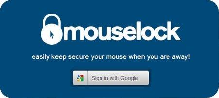 Página de inicio de la web Mouselock