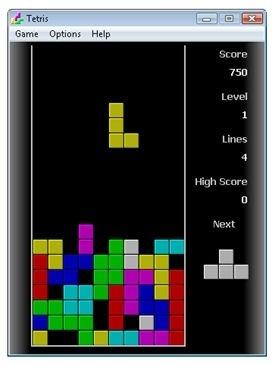Partida de Tetris para PC