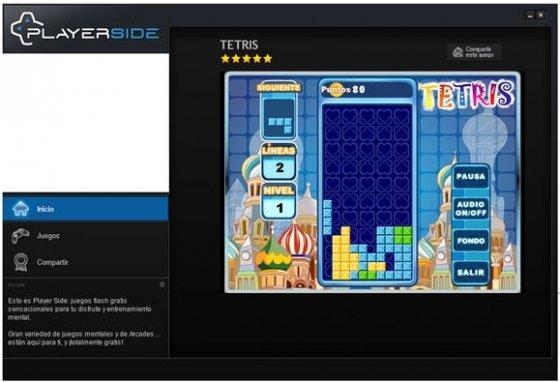 Versión de Tetris de Player Flash