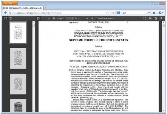 Nuevo visor PDF de Firefox en acción
