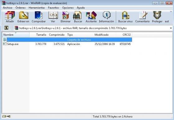 Explorador de archivos de WinRAR