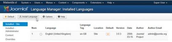 Acceso al buscador de idiomas