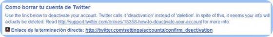 Instrucciones de procedimiento y enlaces directos ofrecidos por AccountKiller