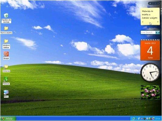 Windows Sidebar en acción