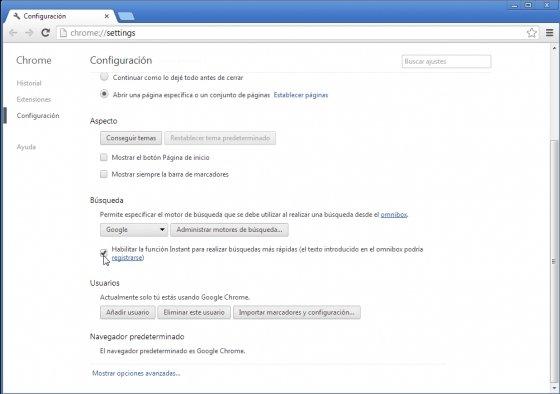Establecer accesos directos a webs con Google Chrome