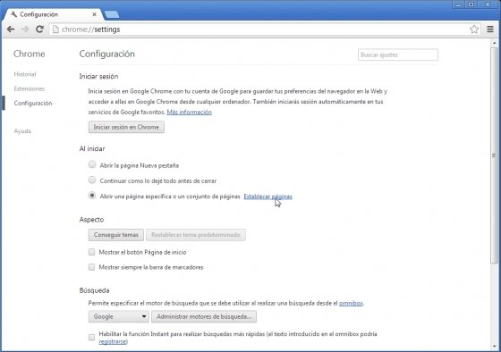 Búsqueda instantánea en la barra de direcciones con Google Chrome