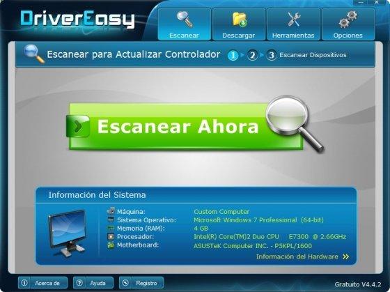Actualizar drivers o controladores con DriverEasy