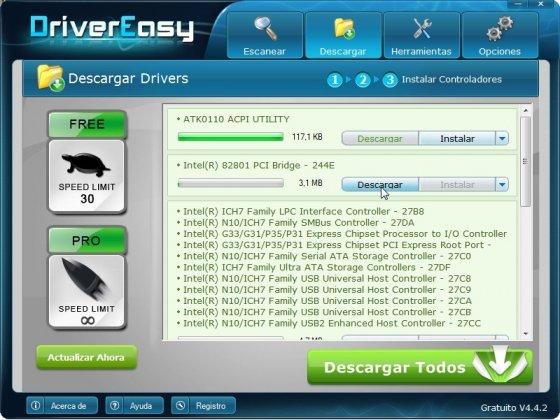 Descargar drivers o controladores con DriverEasy