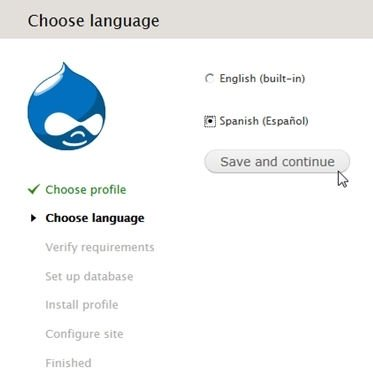 Instalar idioma español en Drupal