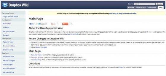 Servicios adicionales de Dropbox