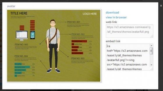 Plantilla vista en detalle de easel.ly