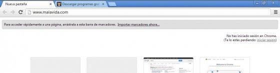 Atajo de teclado para barra de direcciones de Google Chrome