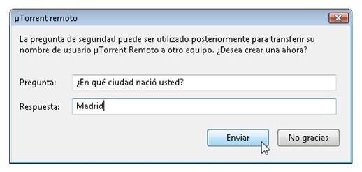 Pregunta de seguridad para poder trasferir el usuario a otros PCs