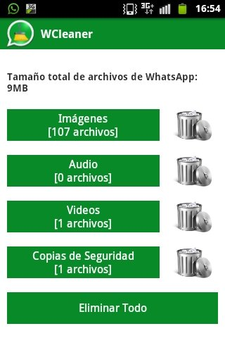 Limpiar WhatsApp con WCleaner