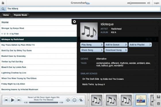 Grooveshark como alternativa a Spotify