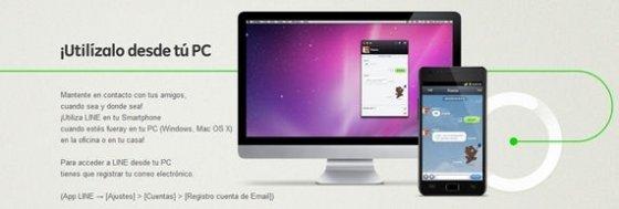 Imagen promocional de LINE para PC