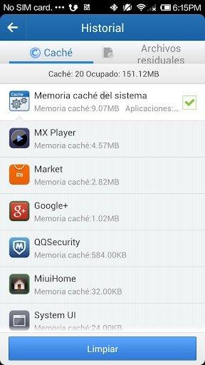 Limpiar el historial de aplicaciones de Android